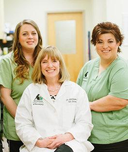 Sarah, Dr. Williamson and Diana