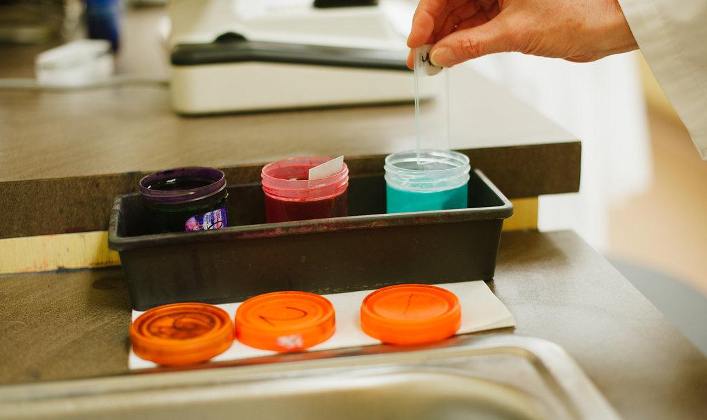 Dr. Williamson staining slides
