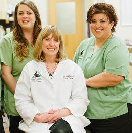 Erin, Sarah, Dr. Williamson and Diana