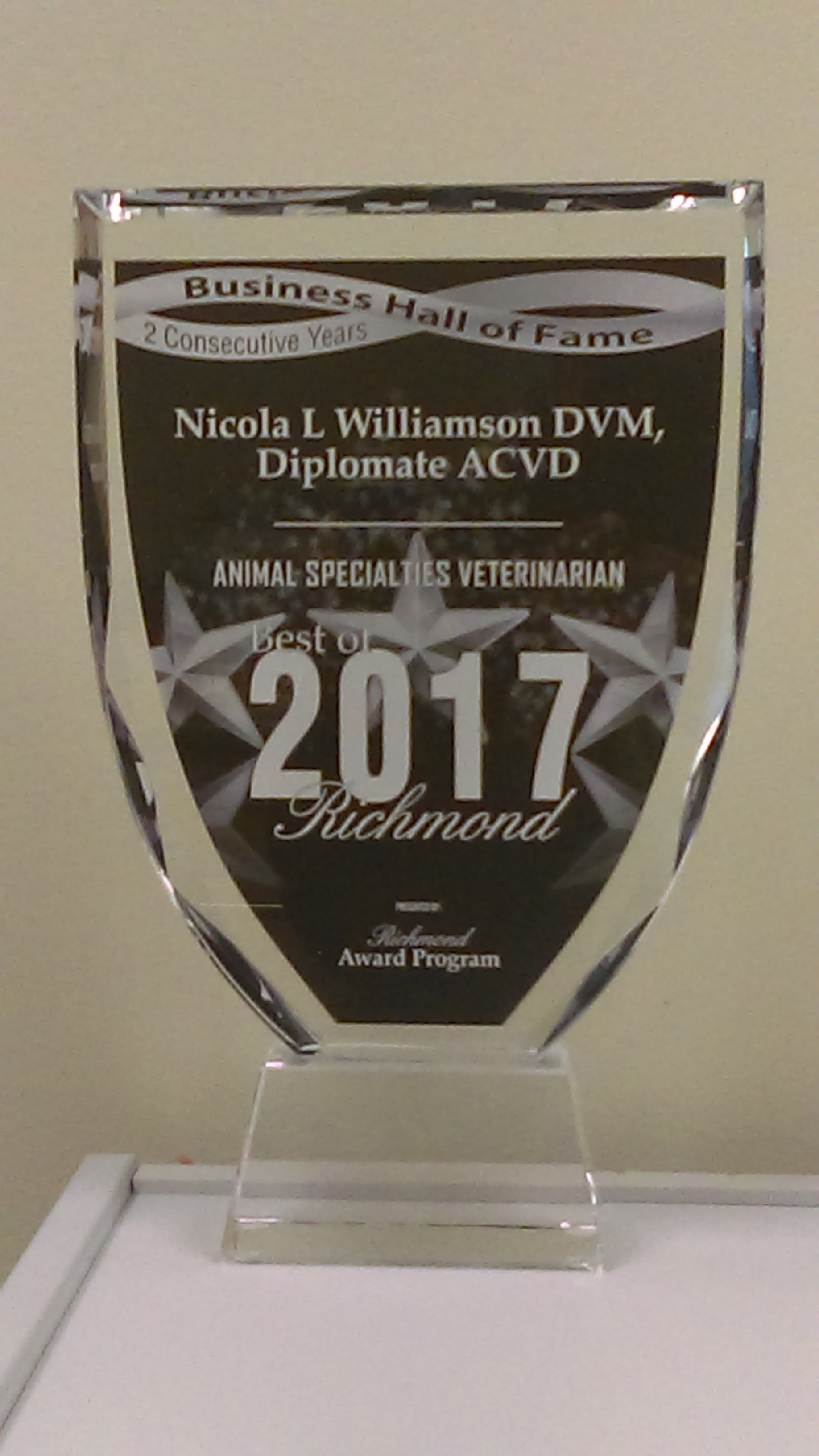 2017 Business Hall of Fame Award - 2 Consecutive years